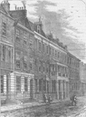 CHELSEA. Carlyle's House, Great Cheyne Row. London c1880 old antique print